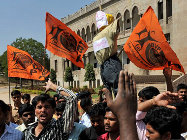 Ramjas violence. ABVP has risen in prominence since BJP's electoral successes in the last three years. AFP