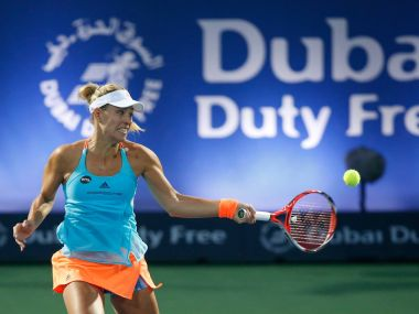 Angelique Kerber won in straight sets to progress to quarter-finals. Image courtesy: Facebook/DDFTennis
