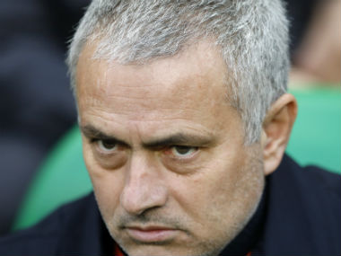 Jose Mourinho was unhappy with the draw. AP