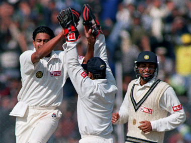 Anil Kumble became only the second bowler in international cricket to take all 10 wickets in an innings. AFP