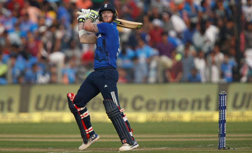 England's Ben Stokes plays a shot. Reuters