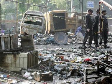 Images after serial bomb blasts hit New delhi just two days before Diwali in 2005. Reuters