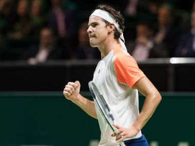 Dominic Thiem took three sets to battle into the second round. Image courtesy: Twitter/@abnamrowtt