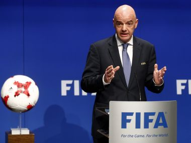 """Fifa president Gianni Infantino added that Russia is a """"welcoming and football-loving country"""". Reuters"""