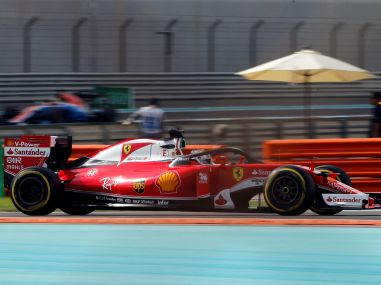Ferrari's Formula One driver Sebastian Vettel of Germany drives during a practice. Reuters