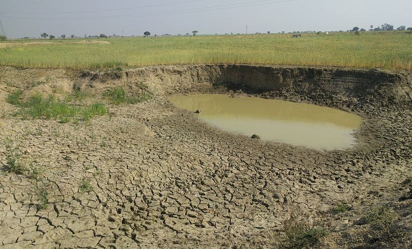 Hamirpur Pits dug in fields in te name of ponds