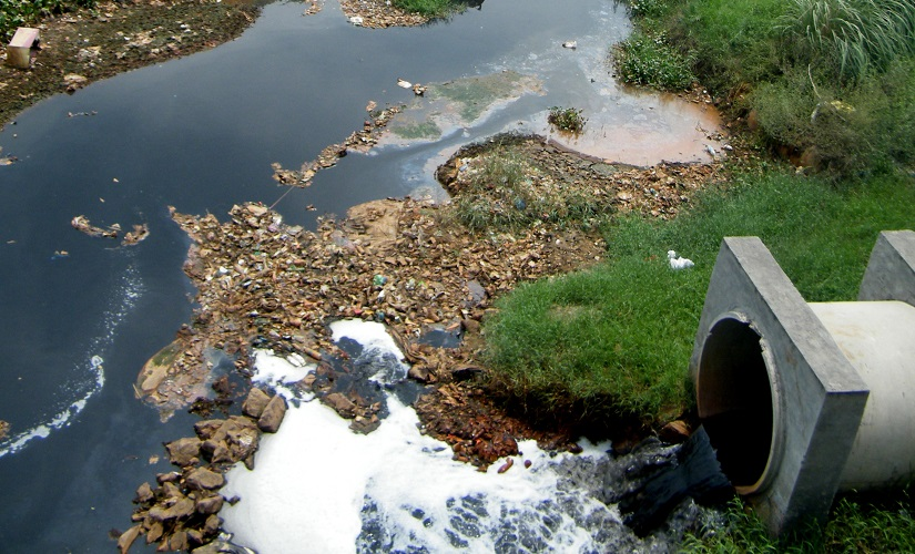 Industrial and residential sewerage discharge is major source of pollution in Hindon such as this drain in Ghaziabad. Image courtesy: Sajid Idrisi