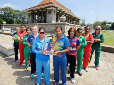 The captains of the ten teams competing in the ICC Women's World Cup Qualifier 2017. Image courtesy: ICC website