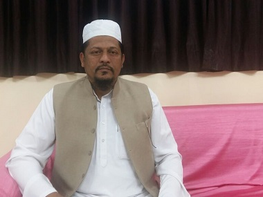 Islamic cleric Maulana Tahir Qasmi speaks on Muslim education. Firstpost/Tufail Ahmad