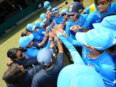 Indian women's cricket team celebrate after win over Thailand. Twitter/@ICC