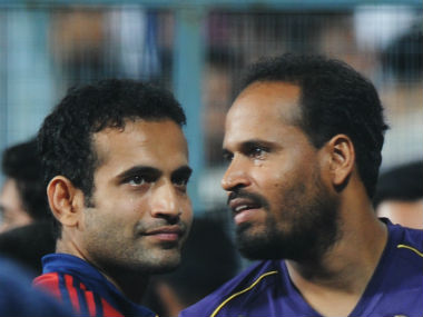 File photo of the Pathan brothers. AFP