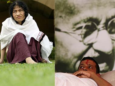 Irom Sharmila and Arvind Kejriwal. Reuters