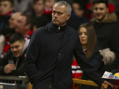 Jose Mourinho was angry at Manchester United's first-half performance. AP