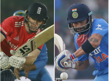 Eoin Morgan and Virat Kohli, captain of England and India respectively. AP