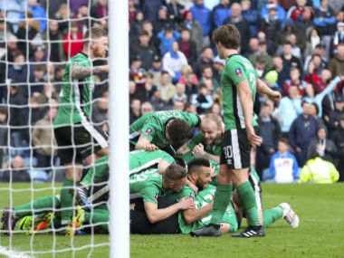 Lincoln City became the first non-league side to reach FA Cup quarter-final. AP