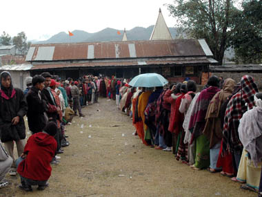 A file image of voters in Manipur. Reuters