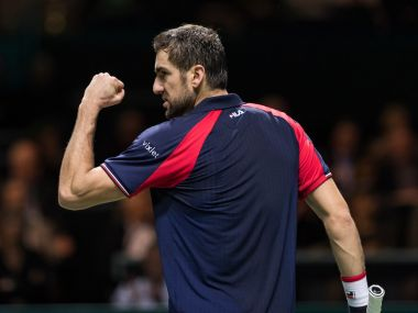 Marin Cilic beat Borna Coric in three sets to advance to the quarters. Image courtesy: Twitter/@abnamrowtt