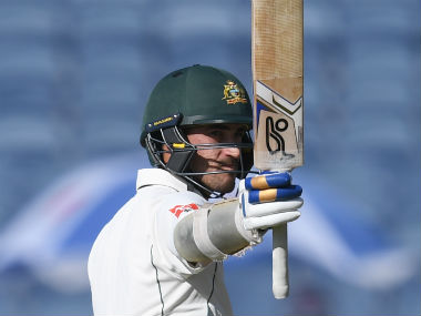Mitchell Starc brought up his ninth Test fifty on Day 1. AFP