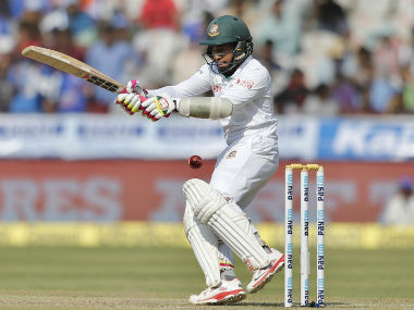 Mushfiqur Rahim was batting on 81 at stumps on Day 3. AP