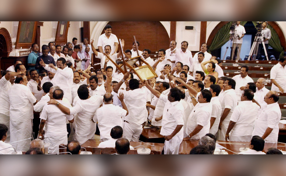 Palaniswami wins Tamil Nadu floor test amid ruckus; Stalin, other DMK MLAs evicted by speaker