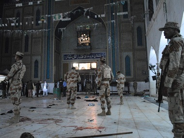 Over 70 people were killed when the Lal Shahbaz Qalandar Sufi shrine was attacked by IS militants. AP