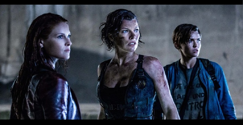 Ali Larter, Milla Jovovich and Ruby Rose in a still from 'Resident Evil: The Final Chapter'