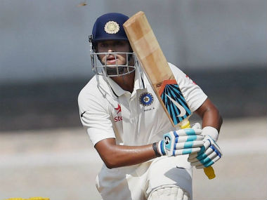 Shreyas Iyer plays a shot on Day 2 of the warm-up fixture against Australia. PTI