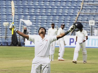 File photo of Shreyas Iyer, who retired hurt on a score of 100. PTI