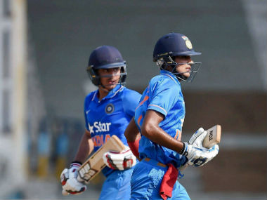 Shubman Gill and Harvik Desai added an unbroken 115-run fourth-wicket stand. PTI