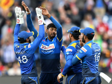 Sri Lanka lead the three-match T20I series by 2-0. AFP