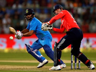 India's Suresh Raina plays a shot against England in the third T20I. Reuters