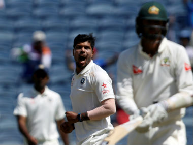 Umesh Yadav recorded figures of 4/32 and 2/39 in the first Test against Australia. Reuters
