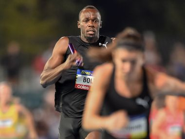 Nitro Athletics Usain Bolt leads his AllStars team to victory on opening night of inaugural meet