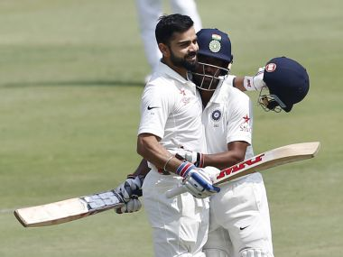 Virat Kohli (L) and Co look to continue their form against Australia. AP