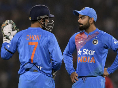 Virat Kohli lauds MS Dhoni's presence in the team. AFP
