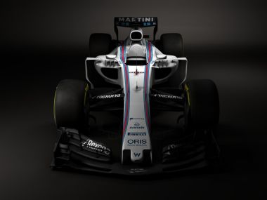 The Williams F1 Team revealed the look for the W40 for the 2017 season. Image courtesy: Twitter/@WilliamsRacing