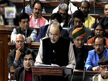 Finance Minister Arun Jaitley tabling the Union Budget for 2017-18 in the Parliament on Wednesday. PTI