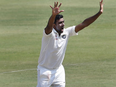Ravichandran Ashwin appeals against Shakib Al Hasan during the Day 3 of the one-off Test against Bangladesh. AP