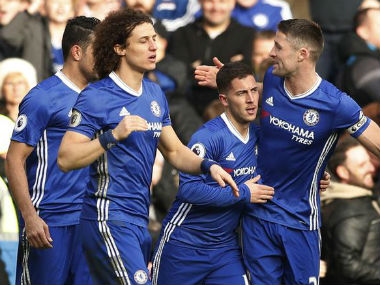 Chelsea are seven points clear at the top of the Premier League table. Reuters