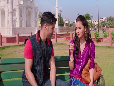Varun Dhawan and Alia Bhatt in a still from 'Humsafar'. YouTube