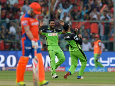 Action in IPL 2016 between RCB and Gujarat Lions. AFP
