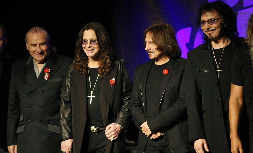 Original members of Black Sabbath announce their reunion during a news conference in 2011. This reunion would be short-lived. Reuters