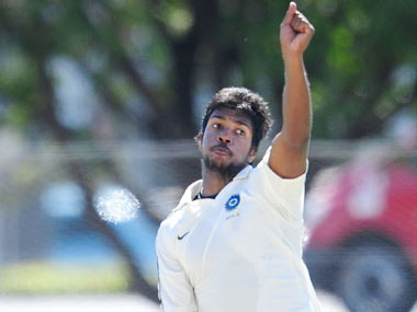 File photo of India pacer Varun Aaron.