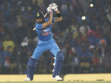 Virat Kohli bats during the 2nd T20I of the series against England in Nagpur. AP