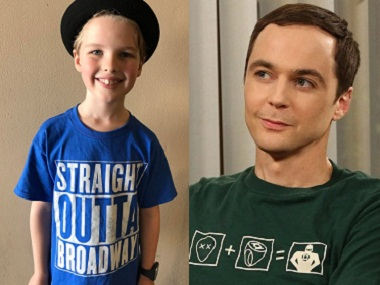 Sheldon, back to the future: Iian Hermitage and Jim Parsons. Image courtesy: Instagram
