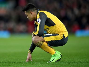 Alexis Sanchez of Arsenal looks dejected during the Premier League match between Liverpool and Arsenal at Anfield on March 4, 2017 in Liverpool, England. (Photo by Laurence Griffiths/Getty Images)