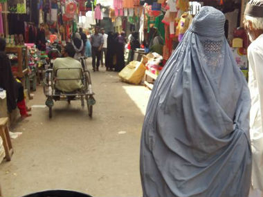 Muslim women wearing net-on-face burqa in the markets of Kairana, UP. Tufail Ahmad/Firstpost