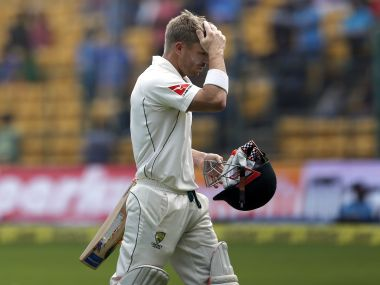 Australia's David Warner leaves the ground after being dismissed during the second Test. AP