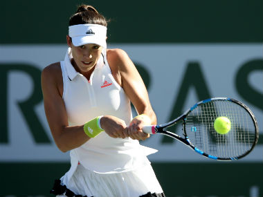 Garbine Muguruza in action during her Round 3 clash against Kylie Day. Getty Images