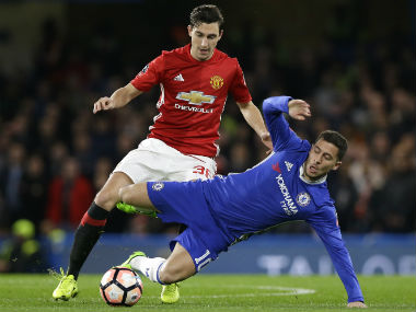 Eden Hazard was targeted by Manchester United players. AP